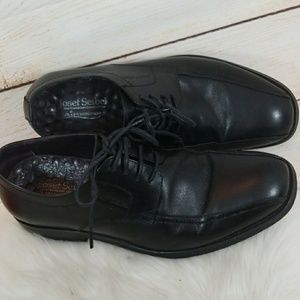 Josef Seibel air massage sole Oxford dress shoes